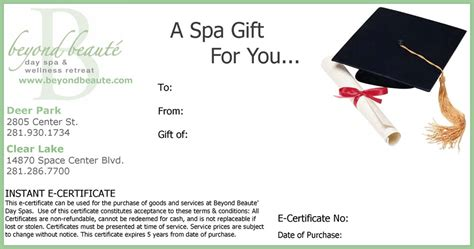 Gift Certificate Terms And Conditions Template by Beyond Beaut 233 Gift Card