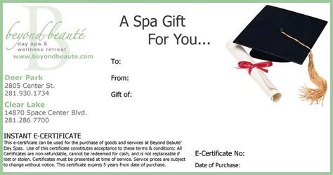 Beyond Beauté gift card to say thank you, to celebrtae
