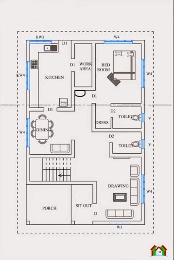 Kerala Style Home Design And Plan | two floor kerala style house plan with 3 bedrooms kerala