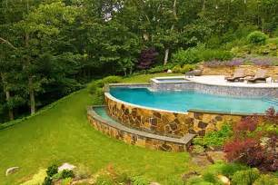 How to build a pool what to do with a sloped backyard