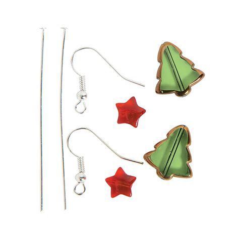christmas earrings adults tree earring craft kit jewelry crafts crafts craft hobby supplies