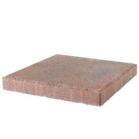 decorative stepping stones home depot pavestone 12 in x 12 in red charcoal concrete step stone
