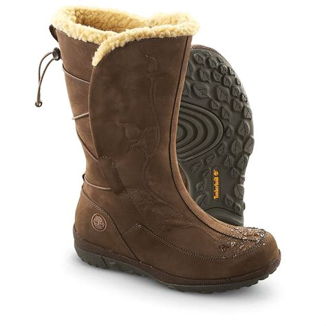 timberland snow boots s timberland 174 mountain waterproof pull on