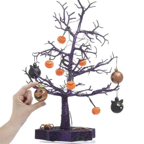 light up halloween tree spooky town light up halloween tree on sale holiday crafts