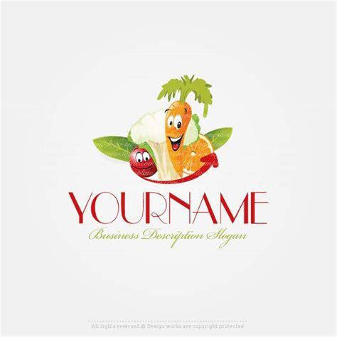 create  logo fruits vegetable logo template