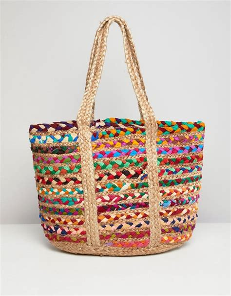 America And Beyond Handbags by America Beyond Woven Structured Jute Bag Asos