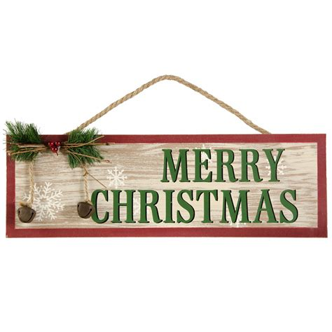 16 quot merry christmas wooden hanging sign 3602436