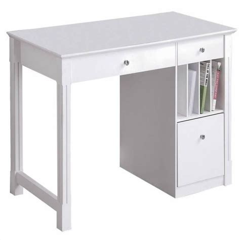 solid wood white desk walker edison deluxe solid wood desk in white dw48d30wh