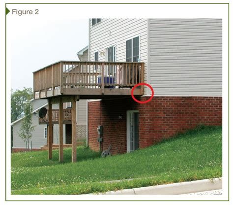 How To Attach Deck To House by Attaching Deck To House Images