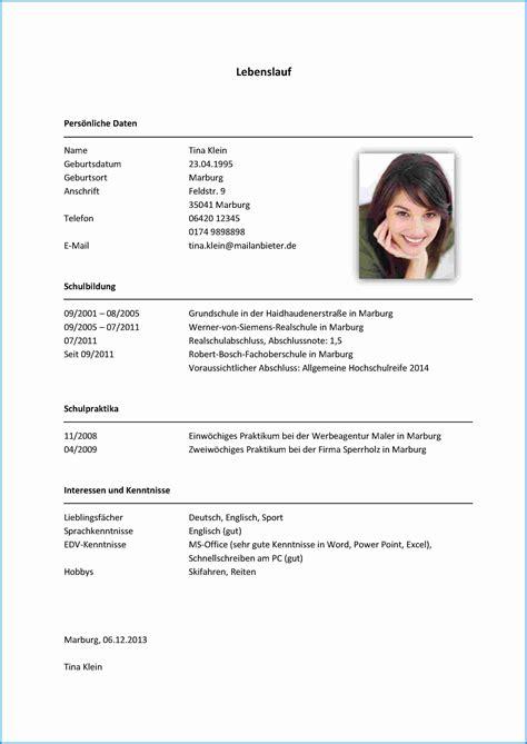 Lebenslauf Englisch Au Pair 5 interessen lebenslauf business template