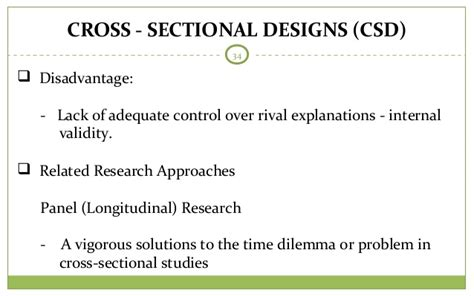 disadvantages of cross sectional design research methods