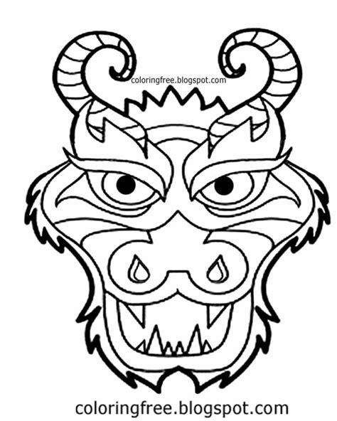 coloring pages of dragon faces dragon face coloring pages murderthestout