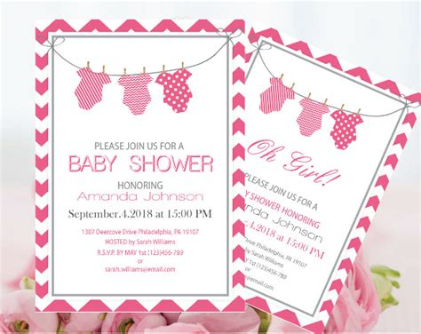 editable templates for baby shower invitations onesie invitation template 15 free psd vector eps ai