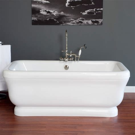 pedestal bathtub strom plumbing solitude 70 inch acrylic double ended