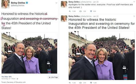 betsy devos in mississippi betsy devos reacts to grammatical errors in tweet 171 cbs