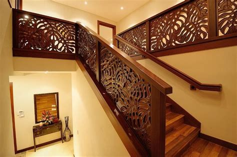 hand carved merbau stair railings  indonesia   hawaiian home decor hawaiian bedroom
