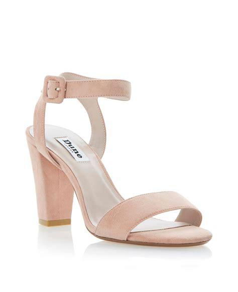 ankle block heel sandal dune harpers suede ankle block heel sandals in pink