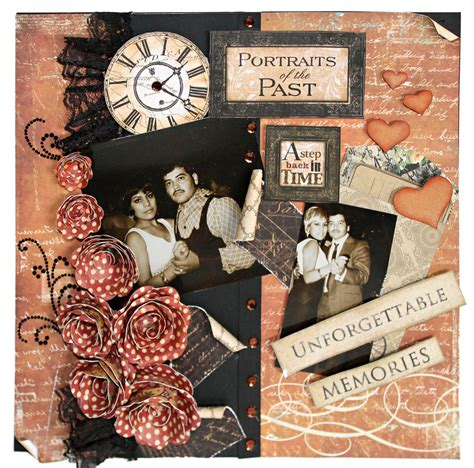 layout vintage portraits of the past vintage scrapbook layout pazzles