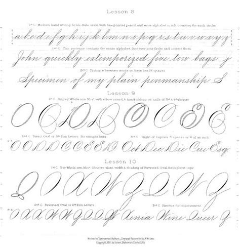 Spencerian Handwriting Worksheets by 165 Best Jl Spencerian Writing Images On