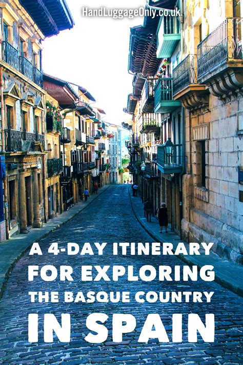 day travel itinerary  exploring  basque country