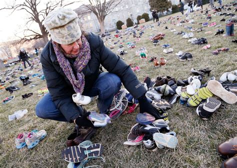 kid killed for shoes 7 000 pairs of empty shoes symbolizing gun violence