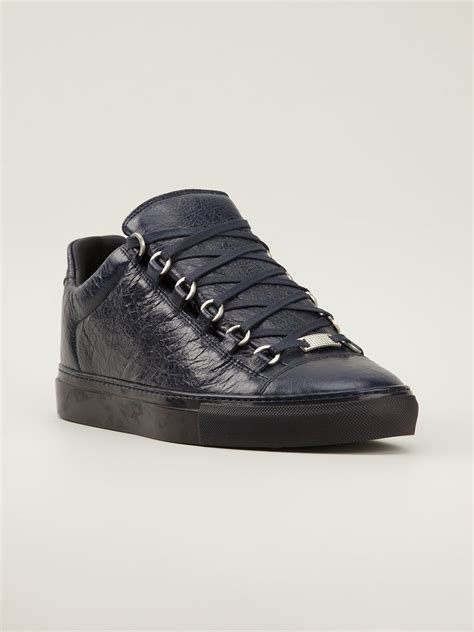 balenciaga arena sneakers balenciaga arena sneakers in blue for lyst