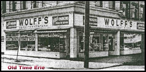 old time erie wolff s store on 13th and parade