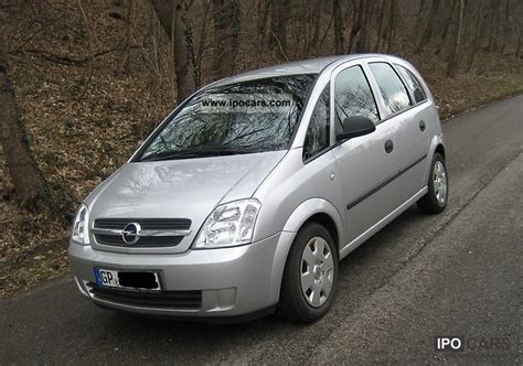 opel meriva 2004 dimensions 2004 opel meriva 1 6 car photo and specs