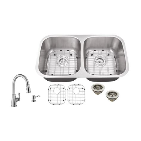 The Kitchen Sink Company Ipt Sink Company Undermount 32 In 18 Stainless Steel Kitchen Sink In Brushed Stainless