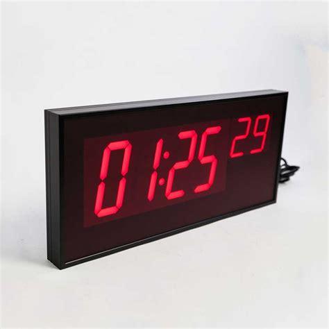 digital wall led digital wall clock battery operated