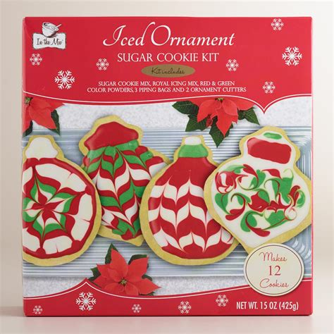 make it and bake it christmas ornaments kit iced ornament sugar cookie kit set of 2 world market