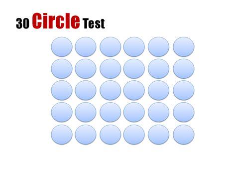 test pattern circle educational mashups part two the 30 circle test eat