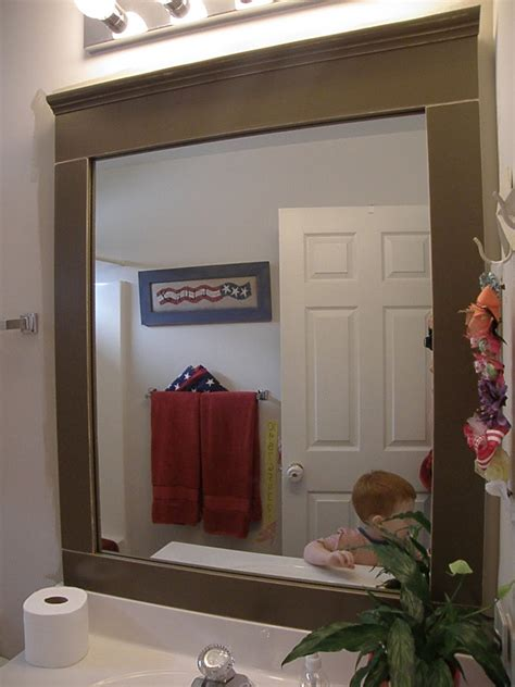 frames for mirrors in bathrooms creative highs bathroom mirrors