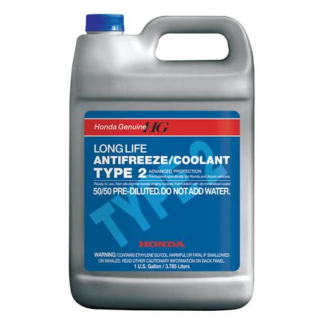 Honda Coolant genuine honda type 2 antifreeze coolant ol999 9011