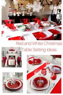 Look at these gorgeous red and white christmas table setting ideas