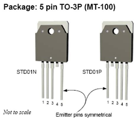 transistor darlington audio std01n and std01p darlington transistors for audio lifiers picture of electronic circuit