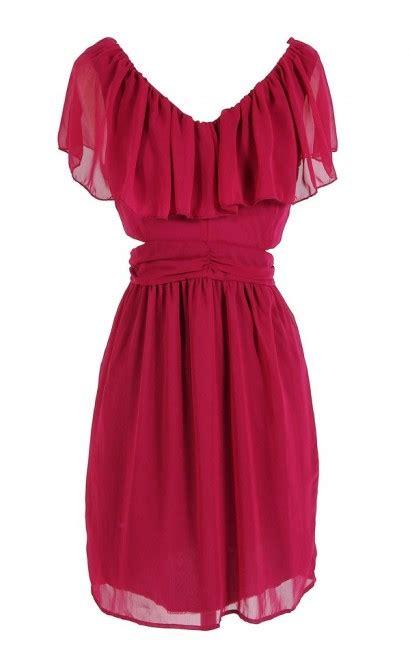 Top Slit Magenta boutique slit side ruffle dress in magenta boutique