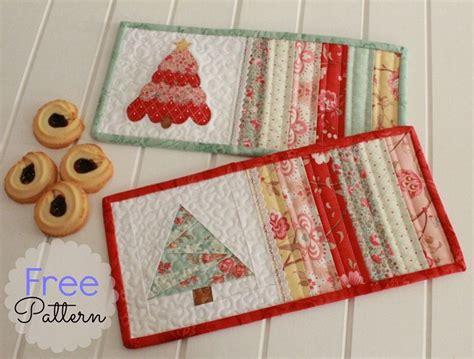pattern quilted mug rug threadbare creations free pattern christmas mug rugs