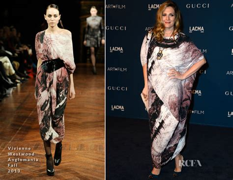 Catwalk To Carpet Drew Barrymore In Gucci by Drew Barrymore In Vivienne Westwood Anglomania Lacma