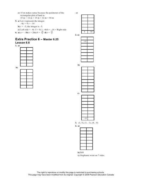 extra pattern practice unit 5 linear equations and graphing extra practice