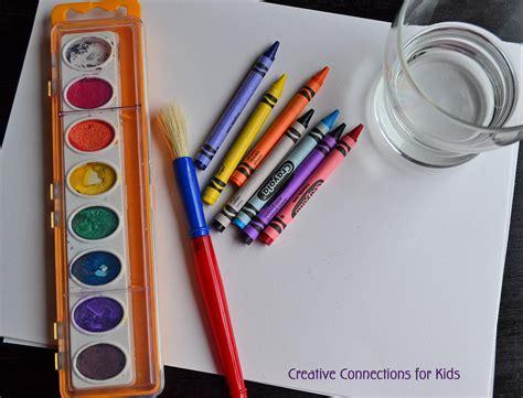 crayon watercolor creations