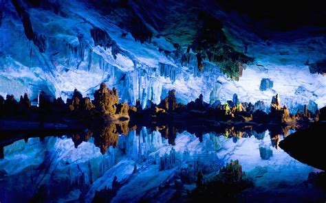 reed flute cave china reed flute lake in guilin china 1600x1200 earthporn