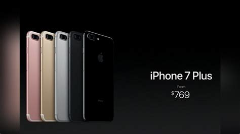apple iphone 7 iphone 7 plus launched airpods these are the features oneindia news