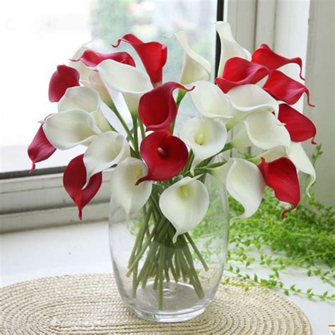 real home decoration simulation calla artificial flower pu real home