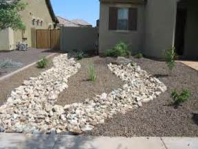 How Much Is A Yard Of Gravel Cost Arizona Desert Landscape Design With Riverbeds Rock Plants