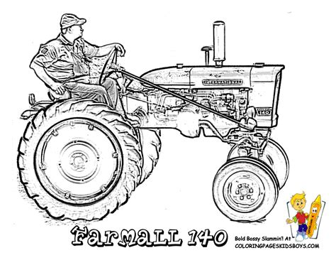 ne of a tractor coloring pages