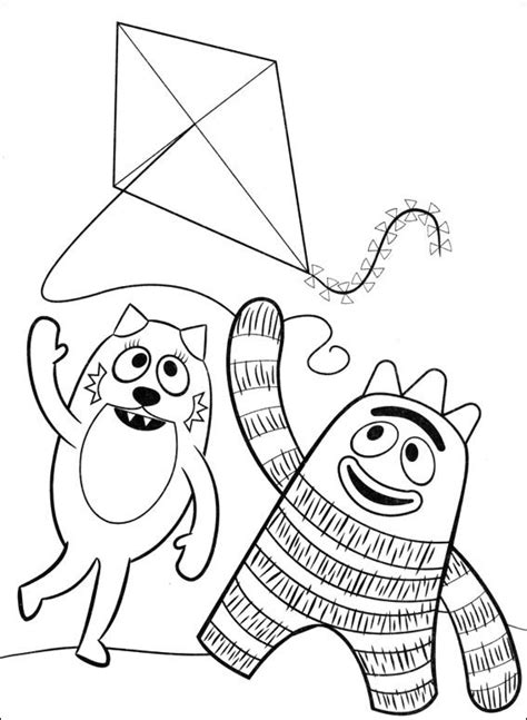 coloring page yo gabba gabba yo gabba gabba coloring pages coloring pages to print