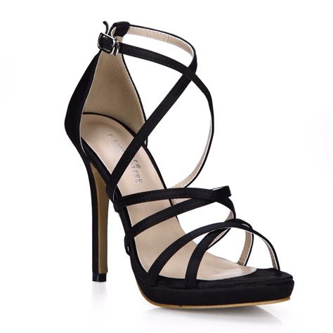black formal high heels formal black shoes for high heels 12 cm thin heels