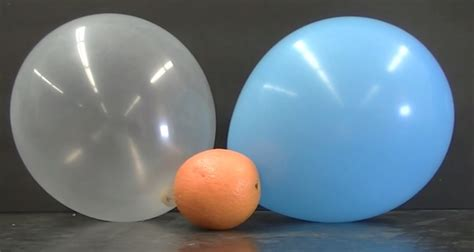 up a balloon with orange how does an orange peel pop a balloon chemistry of