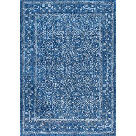blue rugs 6 nuloom vintage waddell blue 4 ft x 6 ft area rug rzbd22a 406 the home depot